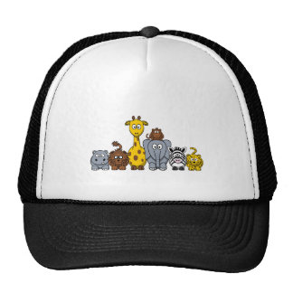 CUTE JUNGLE ANIMALS ADD YOUR TEXT TRUCKER HAT