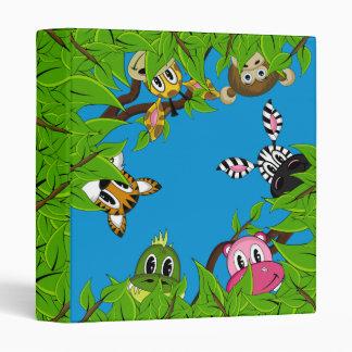 Cute Jungle Animals Binder