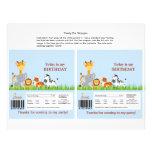 Cute Jungle Animals Boy Candy Bar Wrapper Custom Flyer