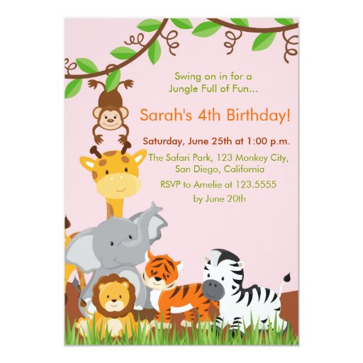1 000 Jungle Birthday Invitations Jungle Birthday