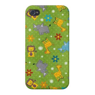 Cute Jungle Animals Iphone Case iPhone 4/4S Case