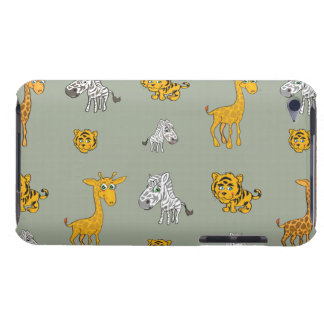 Cute Jungle Animals Pattern Barely There iPod Covers