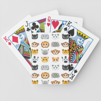 Cute Jungle Animals Pattern Bicycle Playing Cards