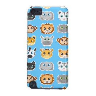 Cute Jungle Animals Pattern Blue iPod Touch (5th Generation) Cases