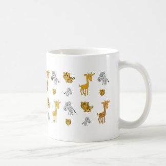 Cute Jungle Animals Pattern Coffee Mug