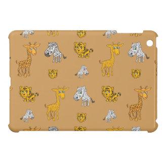 Cute Jungle Animals Pattern iPad Mini Covers
