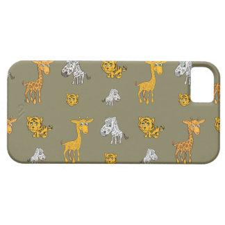Cute Jungle Animals Pattern iPhone SE/5/5s Case