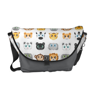 Cute Jungle Animals Pattern Courier Bags