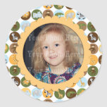 Cute jungle animals pattern stickers