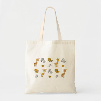 Cute Jungle Animals Pattern Tote Bag