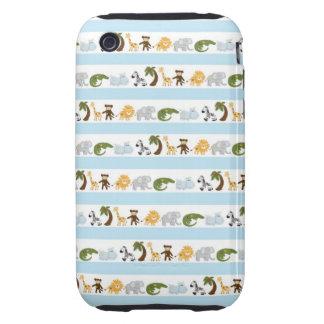 Cute jungle animals pattern tough iPhone 3 cover