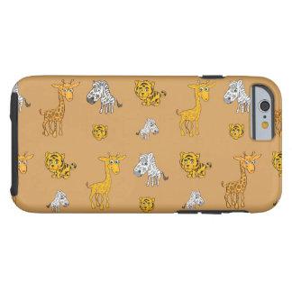 Cute Jungle Animals Pattern Tough iPhone 6 Case