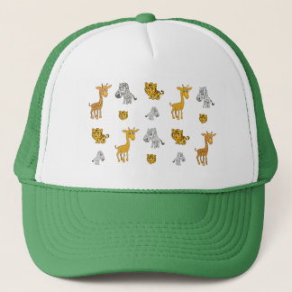 Cute Jungle Animals Pattern Trucker Hat