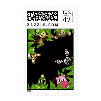 Cute Jungle Animals Stamp