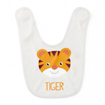 CUTE JUNGLE ANIMALS - TIGER BIB