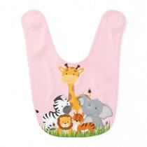 Cute Jungle Baby Animal Baby Bib