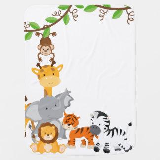 Cute Jungle Baby Animal Baby Blanket