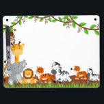 """Cute Jungle Baby Animal Dry Erase Boards<br><div class=""""desc"""">An adorable Dry Erase Boards with cute jungle baby animals for a girl or boy. Personalize with any name. Matching items available in our store. Some Graphics;by MareeTruelove design,  by Prettygrafikdesign at store etsy.com/shop</div>"""