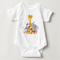 Cute Jungle Baby Animal Infant Creeper