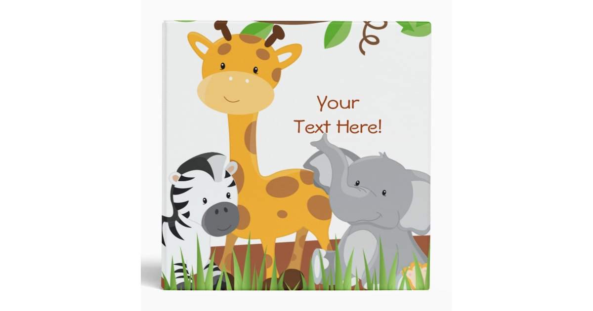 cute jungle baby animal photo album binder