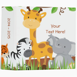 Cute Jungle Baby Animal Photo Album Binder