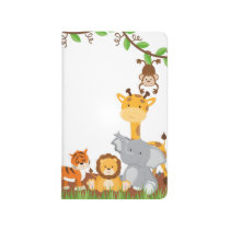 Cute Jungle Baby Animal Pocket Journal