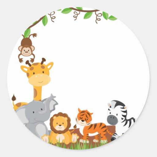 500 000 animal stickers and animal sticker designs zazzle - Stickers chambre bebe jungle ...
