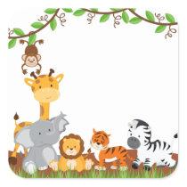 Cute Jungle Baby Animal Sticker