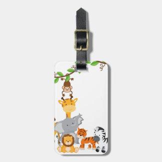 Cute Jungle Baby Animals Luggage Tag