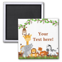 Cute Jungle Baby Animals  Magnet