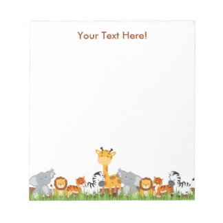 Cute Jungle Baby Animals Notepad