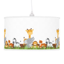Cute Jungle Baby Animals Pendant Lamps