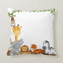 Cute Jungle Baby Animals Pillow