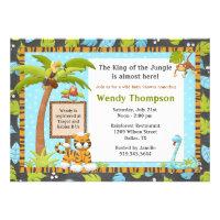 Cute Jungle Baby Shower Invitation