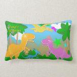 Cute Jungle Dinosaurs Land Pillows