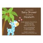 Cute Jungle Giraffe Boy Baby Shower Invitation