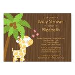 Cute Jungle Giraffe Neutral Baby Shower Invitation