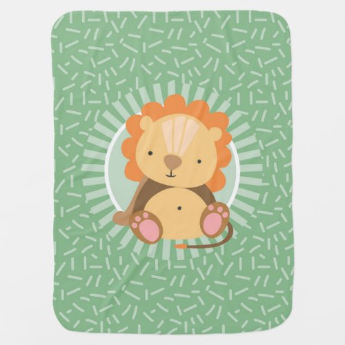 Cute Jungle Lion - Funny Zoo Animals Baby Blanket