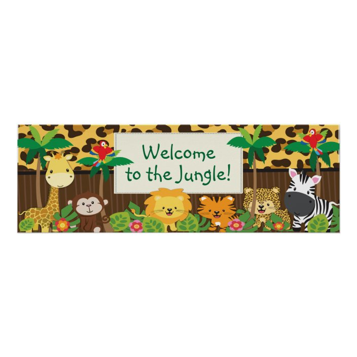Cute Lion Baby Shower Personalized Banner