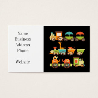 Cute Jungle Safari Animals Train Gifts Kids Baby Business Card
