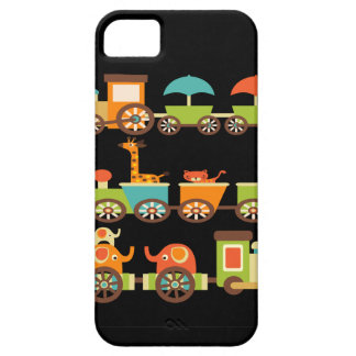 Cute Jungle Safari Animals Train Gifts Kids Baby iPhone SE/5/5s Case