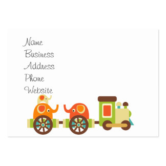 Cute Jungle Safari Animals Train Gifts Kids Baby Large Business Cards (Pack Of 100)