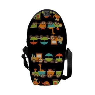 Cute Jungle Safari Animals Train Gifts Kids Baby Courier Bags