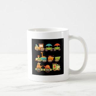 Cute Jungle Safari Animals Train Gifts Kids Baby Classic White Coffee Mug