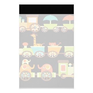 Cute Jungle Safari Animals Train Gifts Kids Baby Stationery