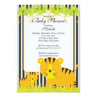 Cute Jungle Safari Baby Shower Invitation