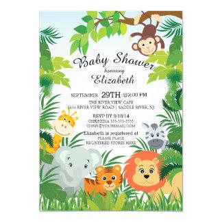 Good Cute Jungle Safari Baby Shower Invitations