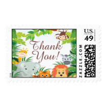 Cute Jungle Safari Baby Shower Postage Stamp