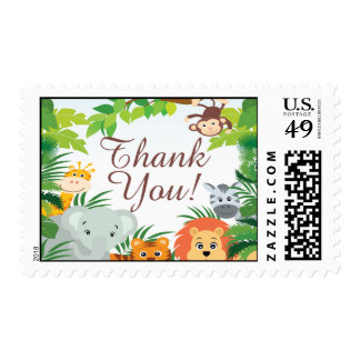 Cute Jungle Safari Baby Shower Postage Stamp