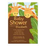 """Cute Jungle Safari Giraffe Multiple Baby Shower 5"""" X 7"""" Invitation Card"""